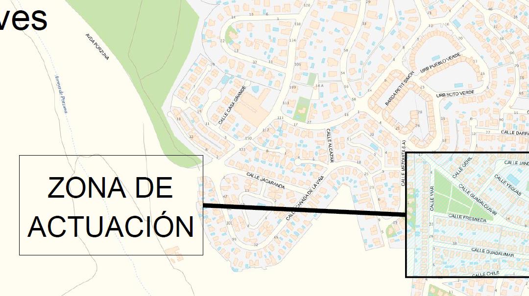 """Obra de """"Mejora del abastecimiento en la calle Fresneda, Gelves (Sevilla)"""""""