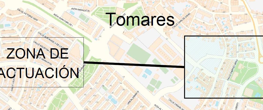 Mejora del abastecimiento en la calle Gabriel Miró, Tomares (Sevilla).